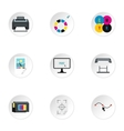 Printer icons set flat style vector image