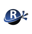 global electricity letter r vector image