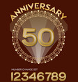 50th anniversary celebration in elegant golden vector image