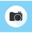Camera Icon Silhouette Photography Symbol vector image