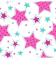 Cute girlish seamless pattern vector image
