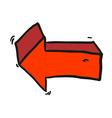 freehand drawn cartoon arrow vector image vector image