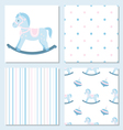 Set of design elements of baby theme-seamless vector image