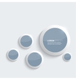 Blue plastic shiny glossy rings on gray background vector image