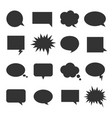 bubble talk icon set vector image