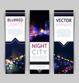 City Banner Vertical vector image