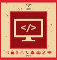 coding icon vector image