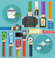 concept modern time to travel flat design i vector image