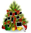 crhistmas tree decoration vector image