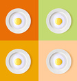 eggs on a plate vector image