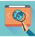 Flat icons - website code optimization vector image