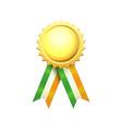 Irish Gold Medal vector image