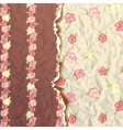 Rose flower pattern Shabby Chic with roses vector image