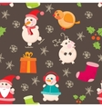 seamless background Christmas and New Years vector image
