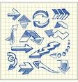 Set of sketched arrow vector image
