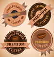 Set of vintage retro coffee badges vector image