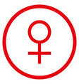 venus female symbol rounded icon vector image