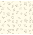 Seamless leaves pattern vector image