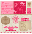 Love Set of design elements vector image