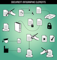Document Infographic Elements vector image vector image