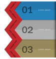 Paper banners for Infographics design vector image vector image