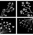 silhouette branches vector image