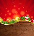 Happy Christmas Border With Sunburst vector image vector image