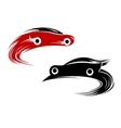 Racing cars speeding around a track vector image