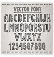 Hand drawn font alphabet vector image vector image