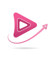 Arrow icon next symbol vector image
