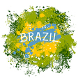 brazil abstract background with splashes vector image