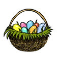 cartoon image of easter icons vector image