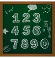 chalk drawing numbers vector image