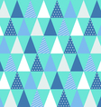 Christmas triangle pattern vector image