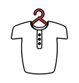 Man shirt hanging on hook vector image