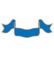 ribbon blue sign 1311 vector image