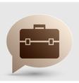 Briefcase sign  Brown gradient icon vector image