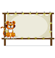 A tiger inside a frame vector image vector image