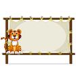 A tiger inside a frame vector image