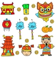 Doodle of object Chinese celebration vector image