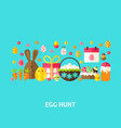 egg hunt greeting card vector image