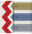 Paper banners for Infographics vector image vector image