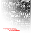 typography background vector image vector image