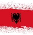 Grunge Albanian Flag vector image