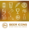 beer outline icons vector image