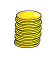 cartoon coin symbol icon design vector image