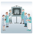 cartoon medicine lecture concept vector image