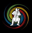 cellist player a man play cello classic music orc vector image