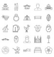 conjugal icons set outline style vector image
