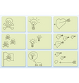 doodle business cards vector image